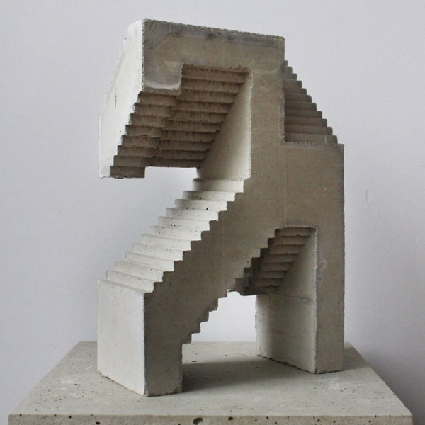 Concrete Abstract Sculpture Art