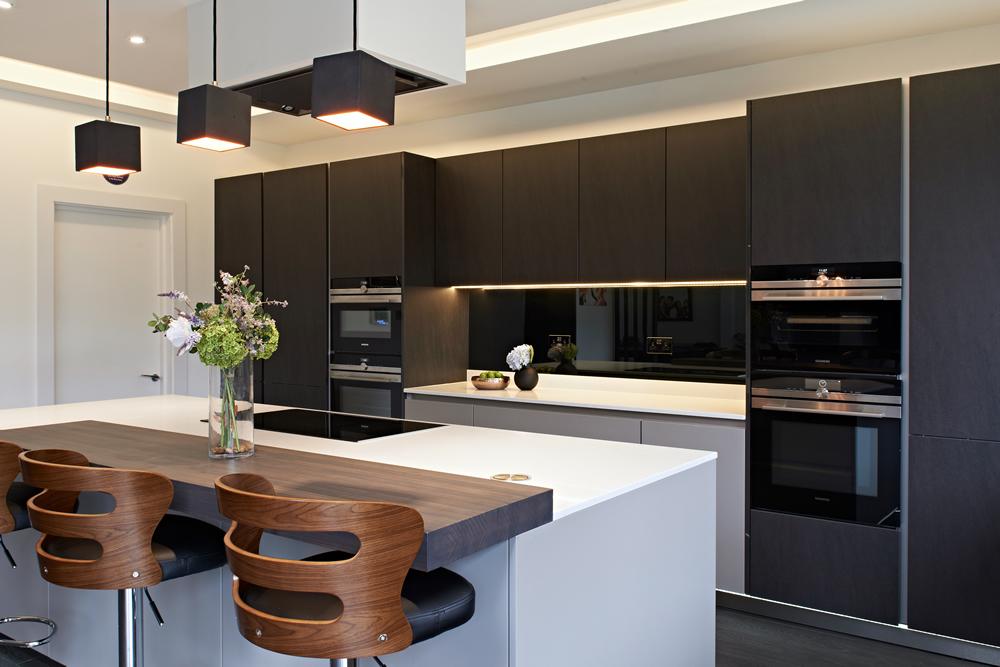 kitchen matt timer pros cons of cabinets and worktops designer kitchens in black