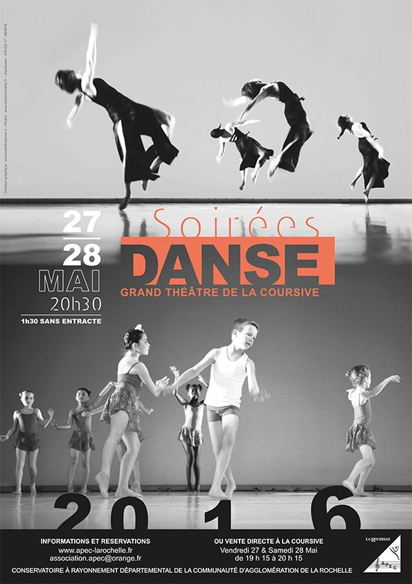 Affiche Soir 233 Es Danse 2016 Estelle 224 La Cr 233 A Designer