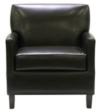 Executive Club Chair - Black Leather - Designer8