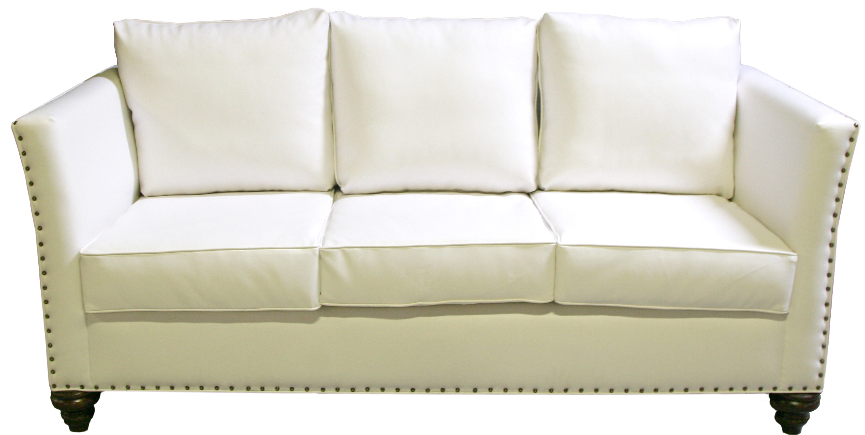 white leather sofa with nailheads pier 1 clearance nailhead designer8