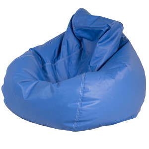 blue bean bag chairs picnic folding chair deep leather designer8