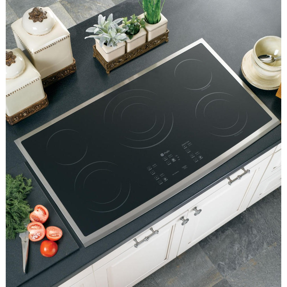 GE PP975SMSS 36 Smoothtop Electric Cooktop with 5 Ribbon