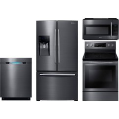 Cheap Kitchen Appliance Packages Big Island Samsung 4 Piece Package With Ne59j7630sg Electric