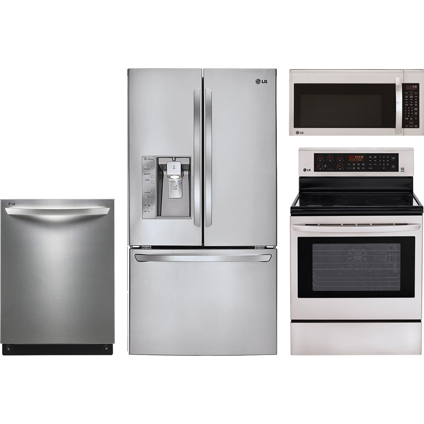 lg kitchen appliances cabinet layout 4 piece package with lre3083st electric range