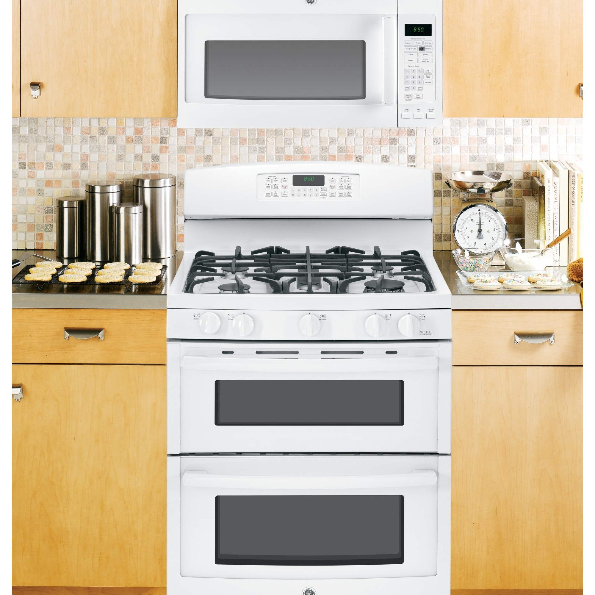 kitchen appliances pay monthly compact jgb850defww ge 30 quot free standing gas double oven range