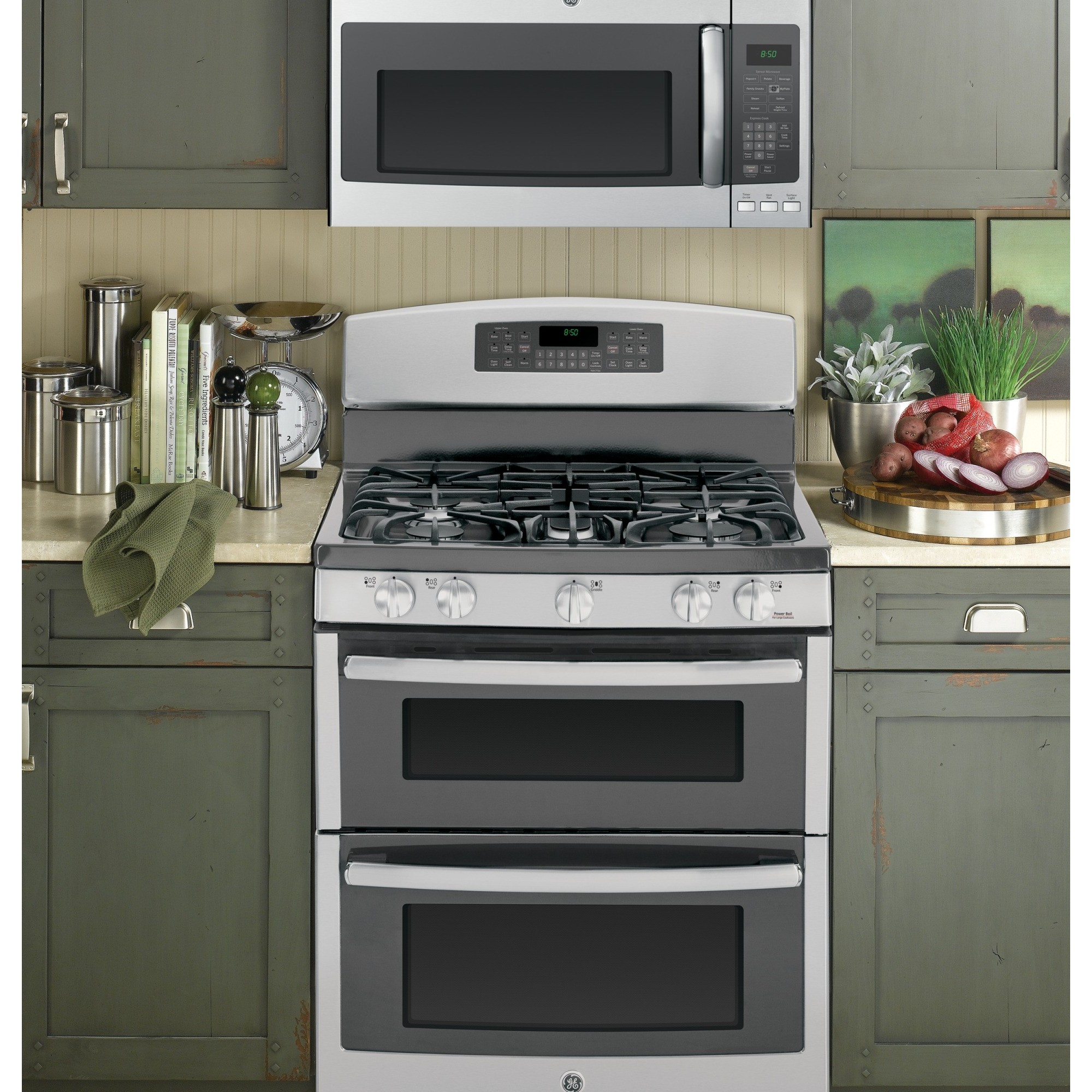 kitchen appliances pay monthly countertop ideas cheap jgb850sefss ge 30 quot free standing gas double oven range
