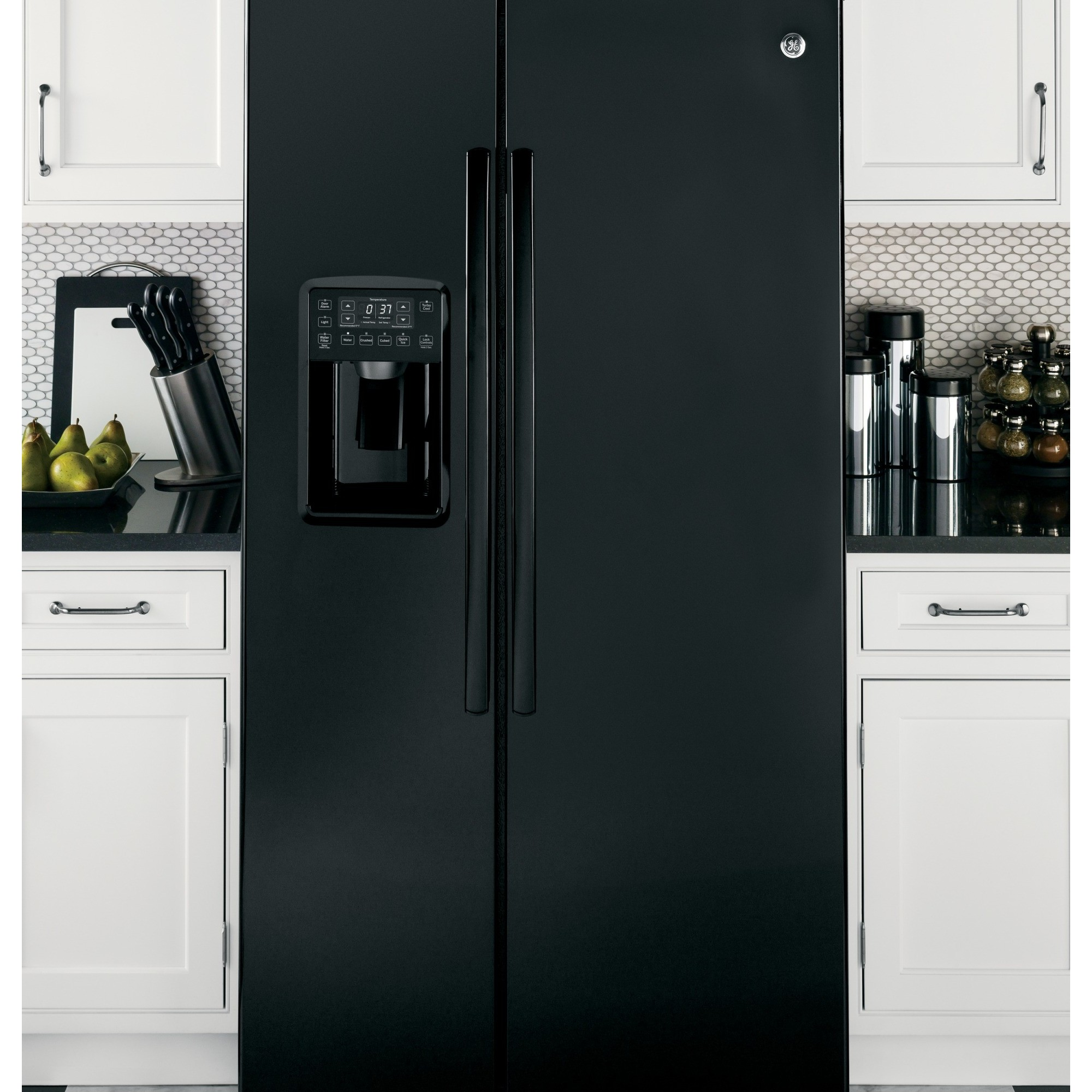 wolf kitchen ranges looking for used cabinets pse25kghbb | ge profile series 25.4 cu. ft. side-by-side ...