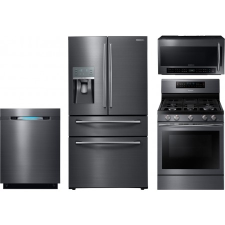 frigidaire kitchen package large appliances samsung 4-piece with nx58j7750sg gas range ...