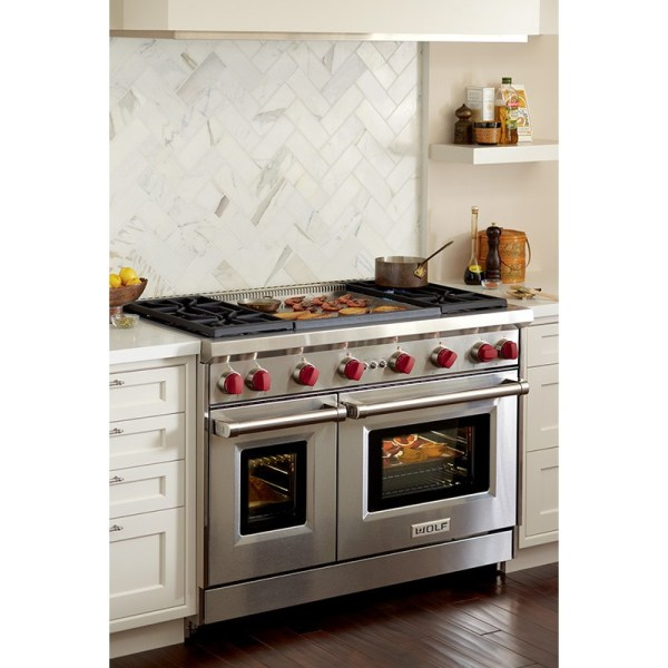 48 Wolf Gas Ranges with Double Ovens