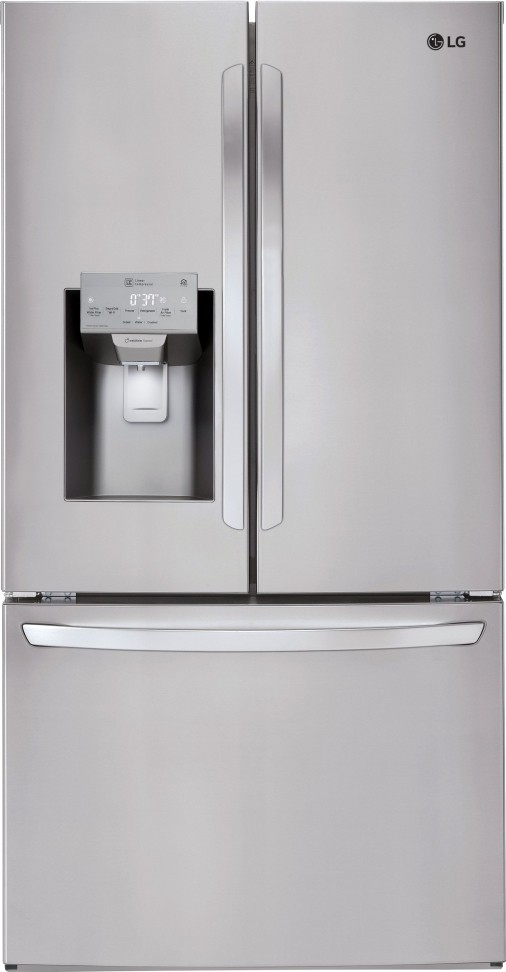 LFXS26973S LG 36 26 Cu Ft Wifi Enabled French Door Refrigerator Stainless Steel