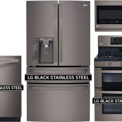 Lg Kitchen Appliances How Much Does It Cost To Remodel A 4 Piece Package With Ldg3036bd Gas Range