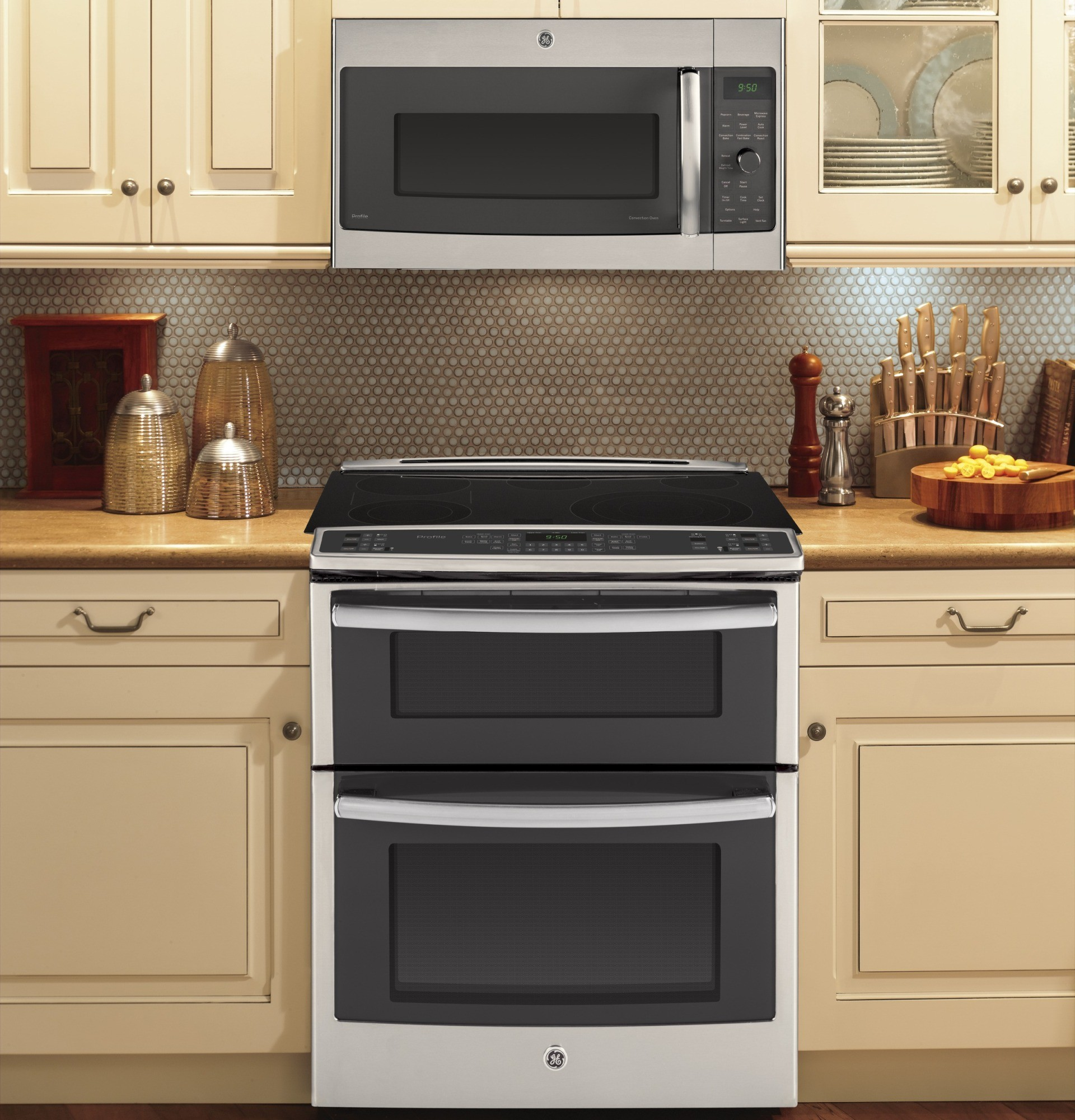 PS950SFSS  GE Profile 30 Slide In Double Oven Electric