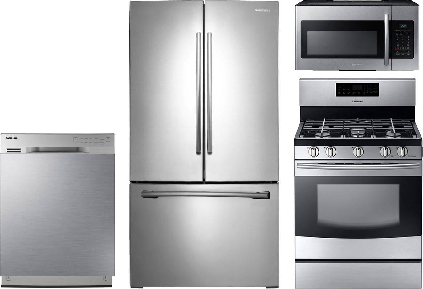 Samsung 4Piece Kitchen Package with NX58F5500SS Gas Range