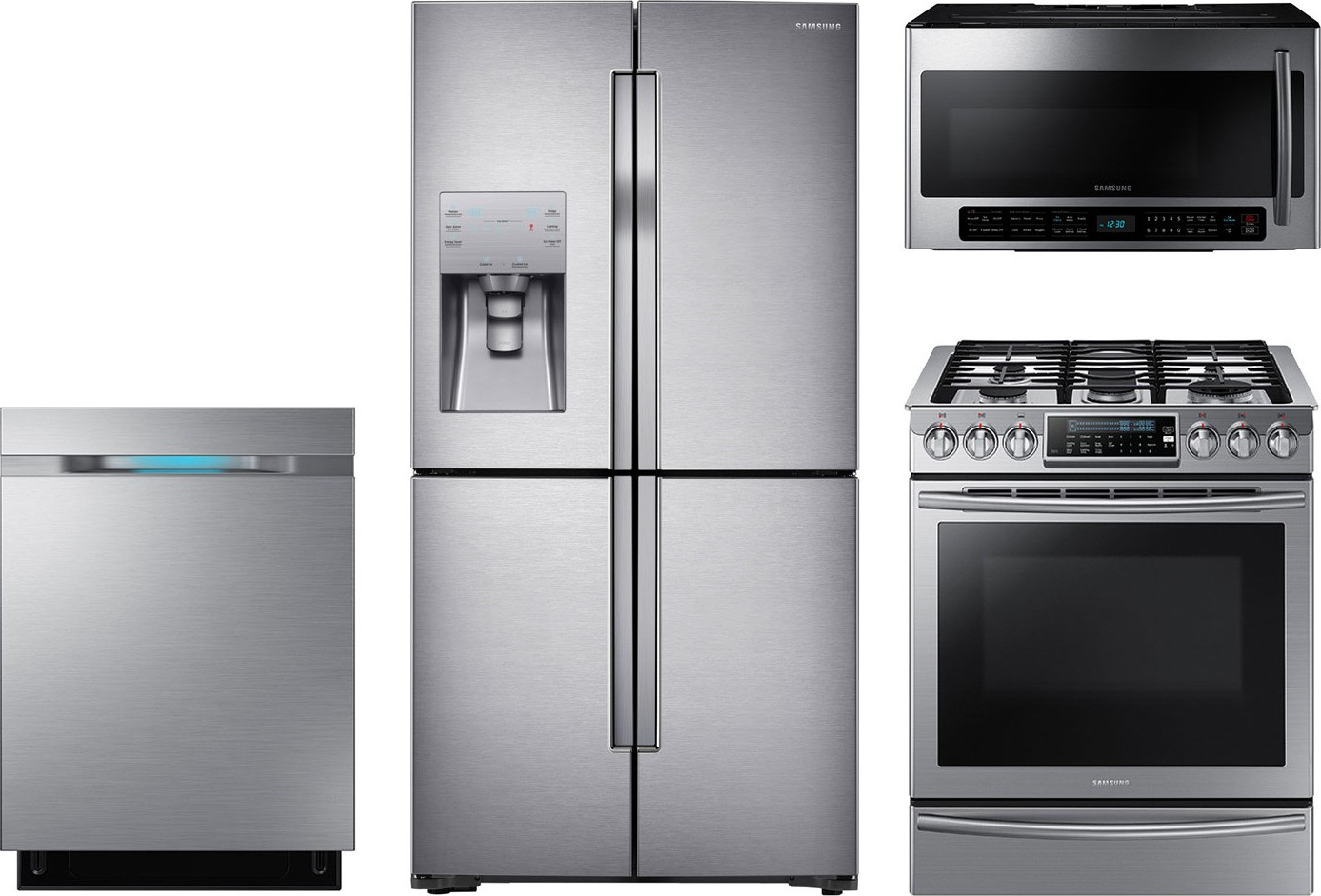 Samsung 4Piece Kitchen Package with NX58H9500WS Gas Range