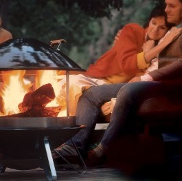 DISCONTINUED Weber  2726 Wood Burning Outdoor Fireplace  Black Finish