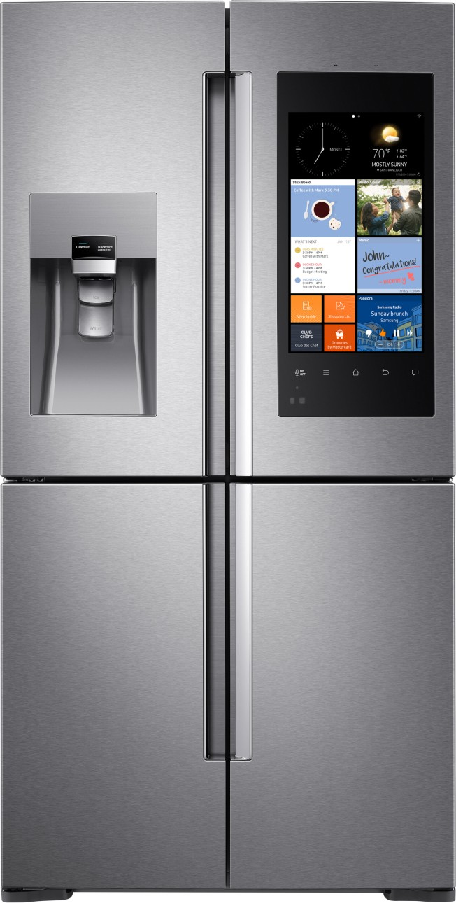 Samsung 4 Piece Kitchen Package With NX58H9500WS Gas Range RF28K9580SR Refrigerator