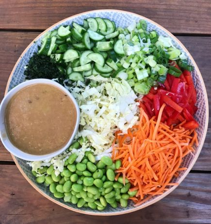 Thai Chopped Salad with Peanut Butter Dressing