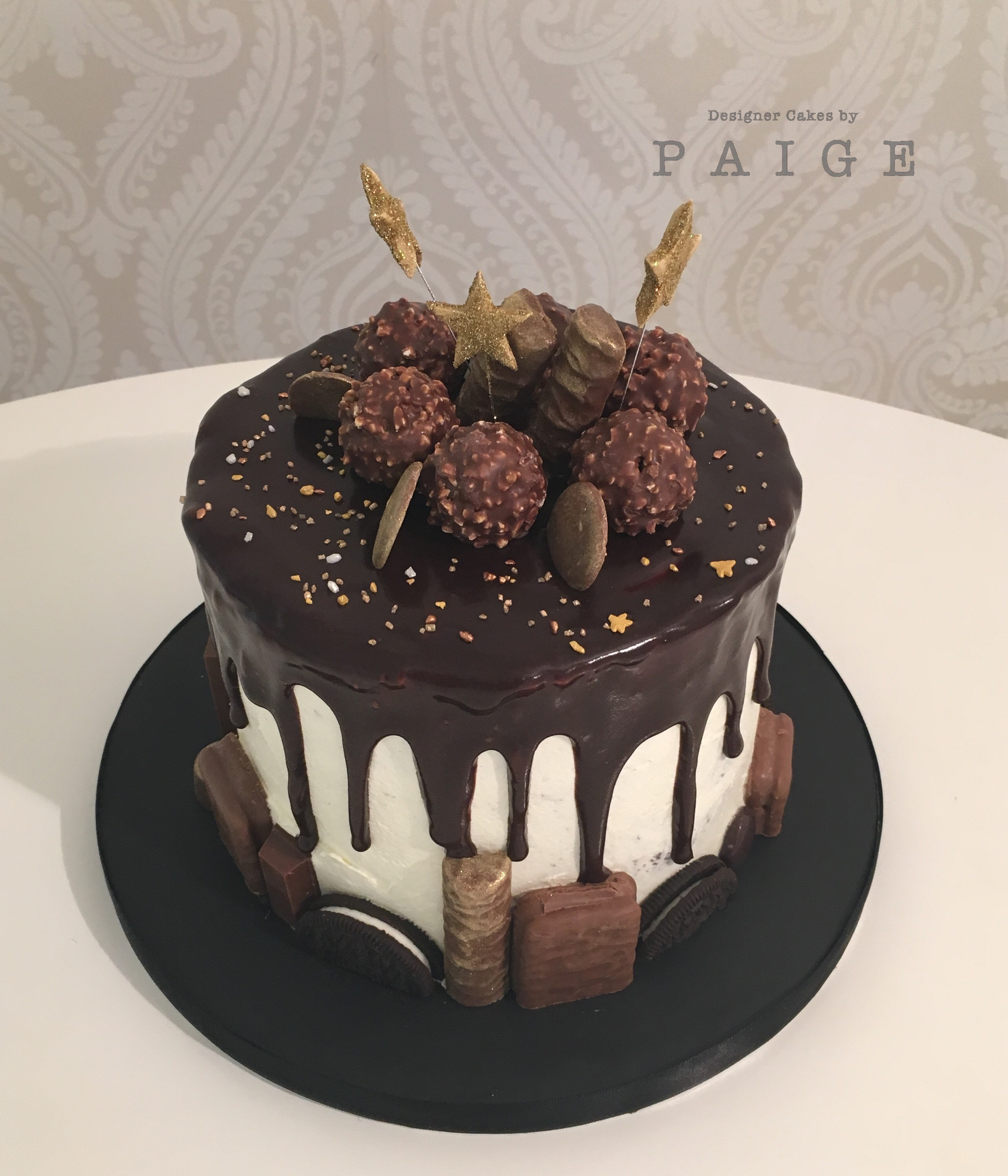 Chocolate And Gold Designer Cakes By Paige