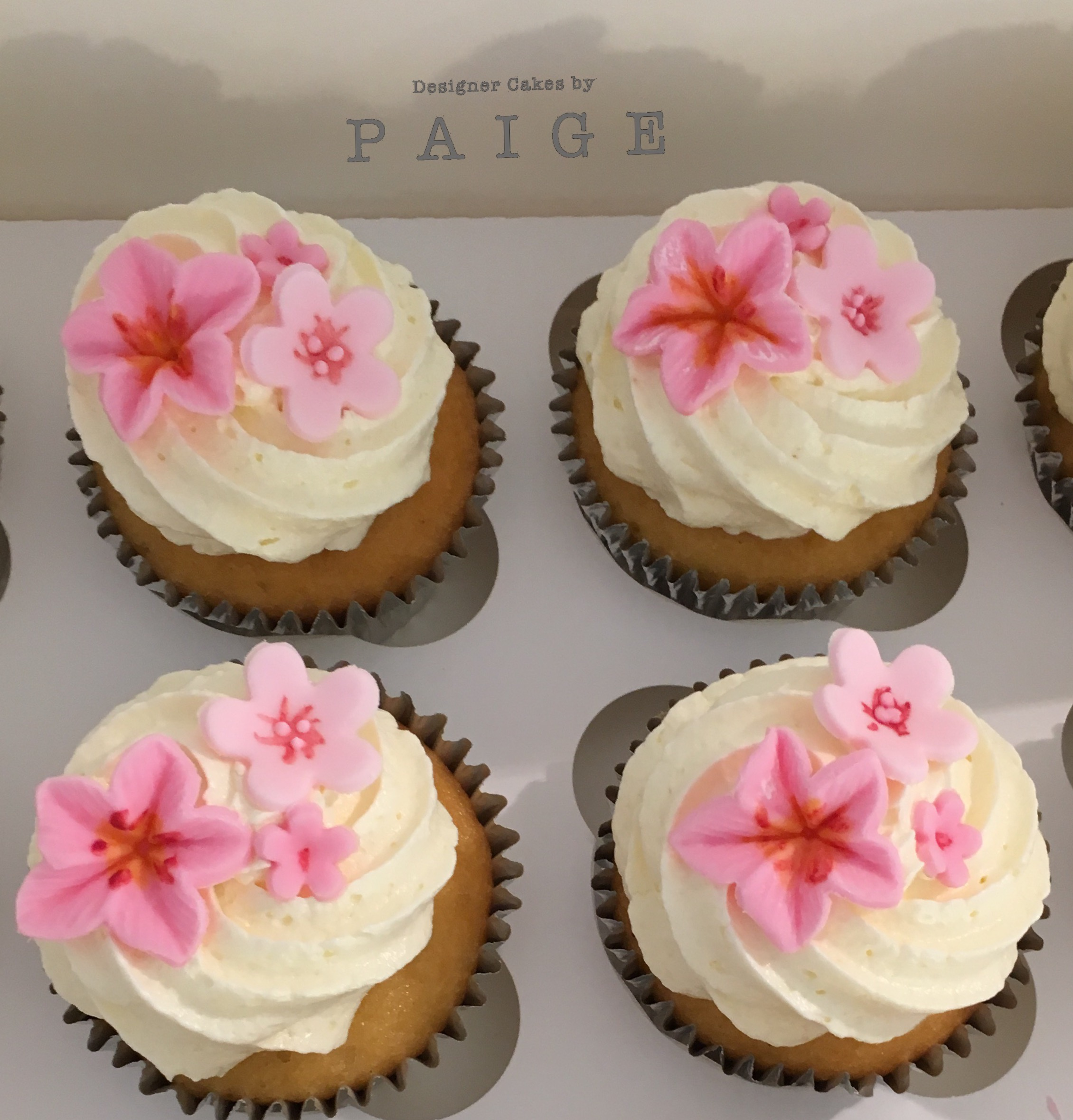 Cherry Blossom Cupcakes Designer Cakes By Paige