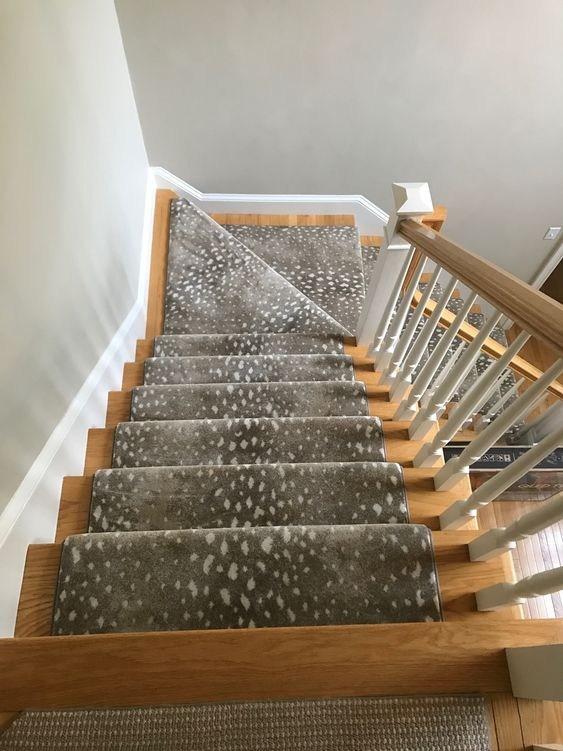 Warm Antelope Stair Runner – Designer Carpets Inc – Charleston   Antelope Carpet On Stairs   Stark   Patterned   Helios   Farmhouse   Foyer