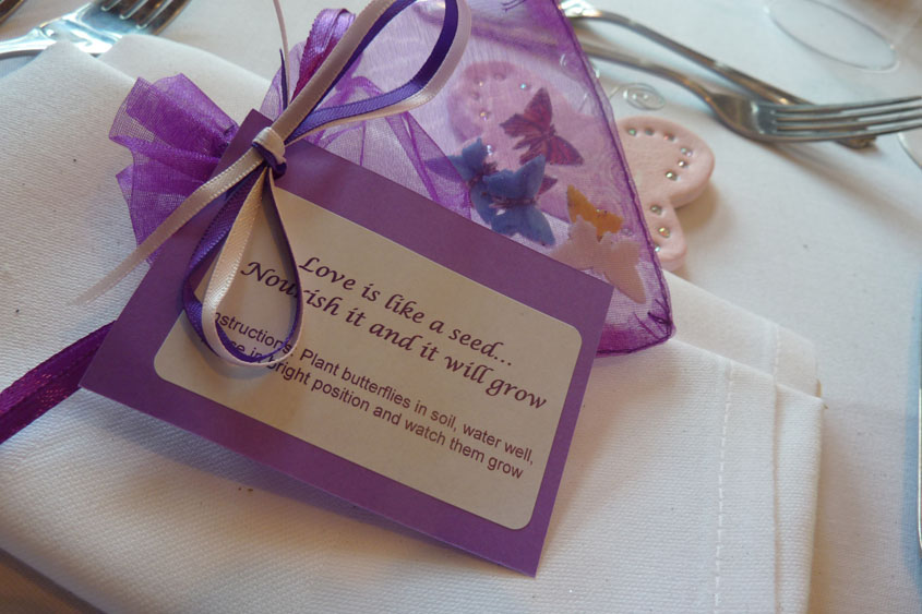 Butterfly Themed Wedding Favours