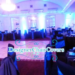 Chair Covers Wedding Hire Essex Computer Desk Event Decor Theme Black And Blue | Stunning Transformations - Designer To Go