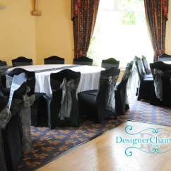 Chair Covers Party Hire Upholstered Side Chairs Dining Black Cover In London - Designer To Go