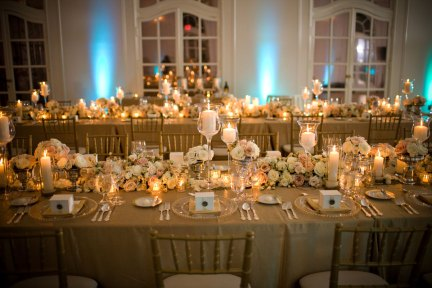 luxury wedding table decor long