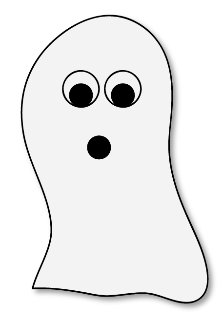 free ghost clip art and printable