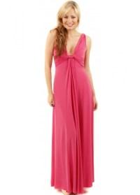 Pink Grecian Maxi Dress | Pink Evening Dress | Pink Long Dress