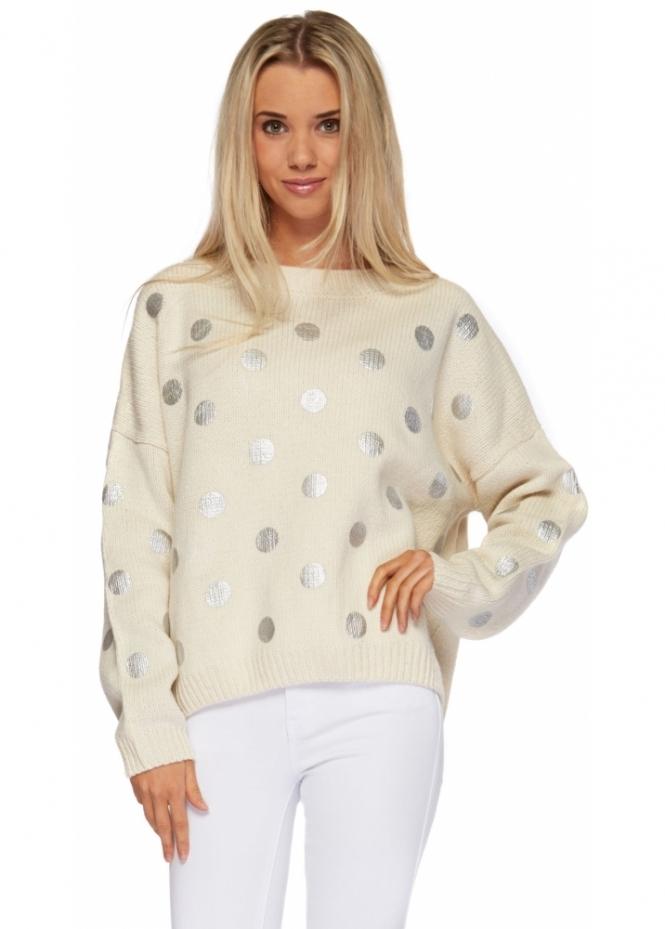ladies cream sweater