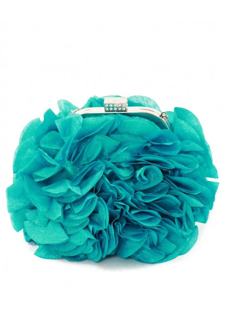 KoKo Aqua Petals Clutch Bag KoKo Designer Party Bags