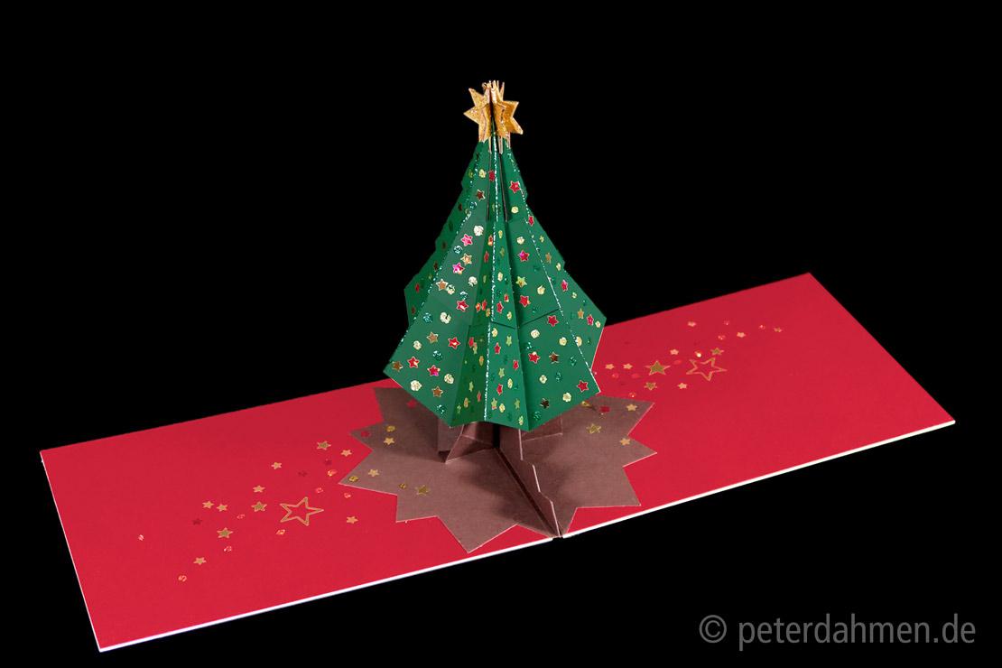 Anleitung Pop Up Karte Weihnachtsbaum