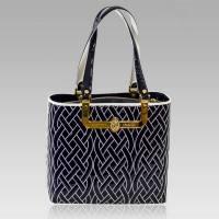 Valentino Orlandi Designer Navy/White Quilted Leather ...