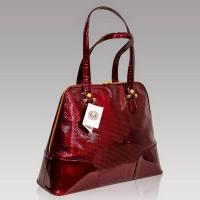 Valentino Orlandi Designer Burgundy Textured Patent ...
