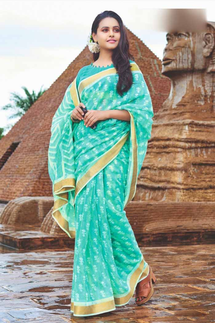 Lucrative Cotton saree