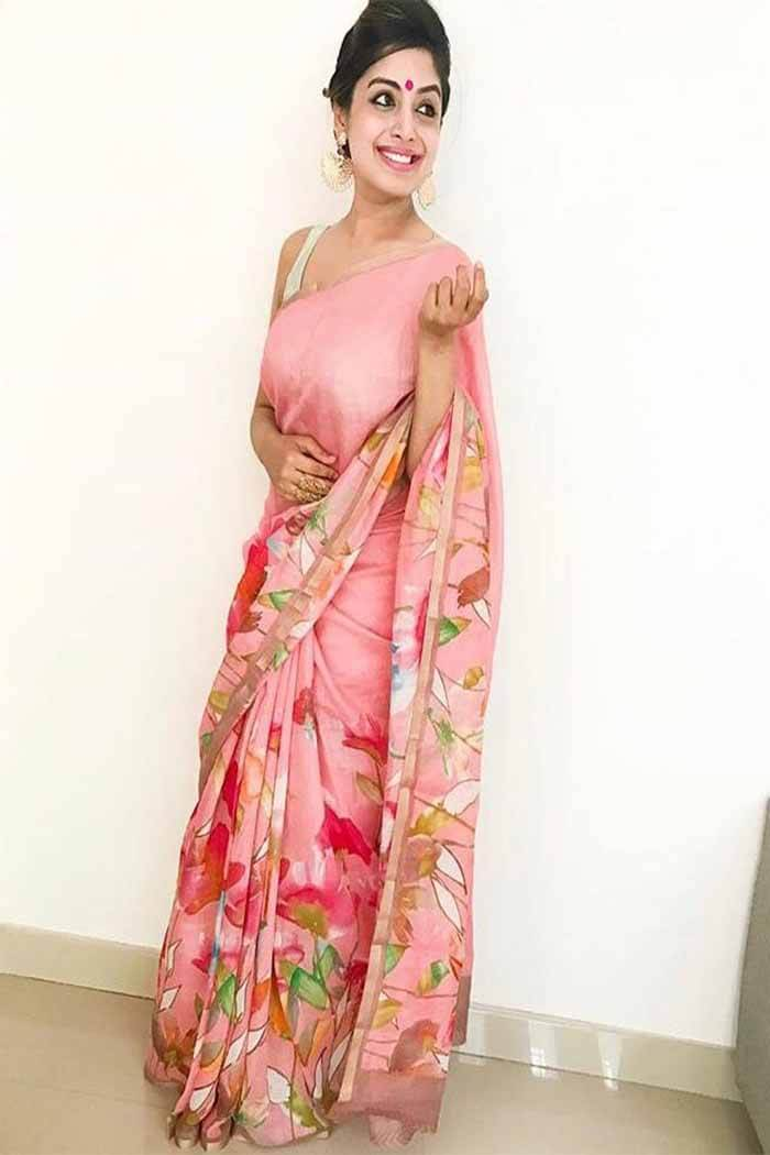 Floral print saree blouse