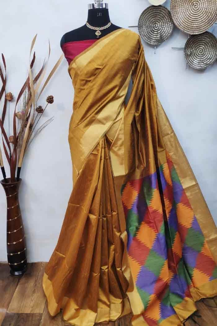 Ikkat Raw silk saree-isha06e