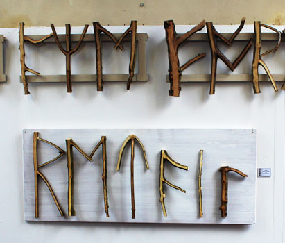 Runes made from branches by D Whatley