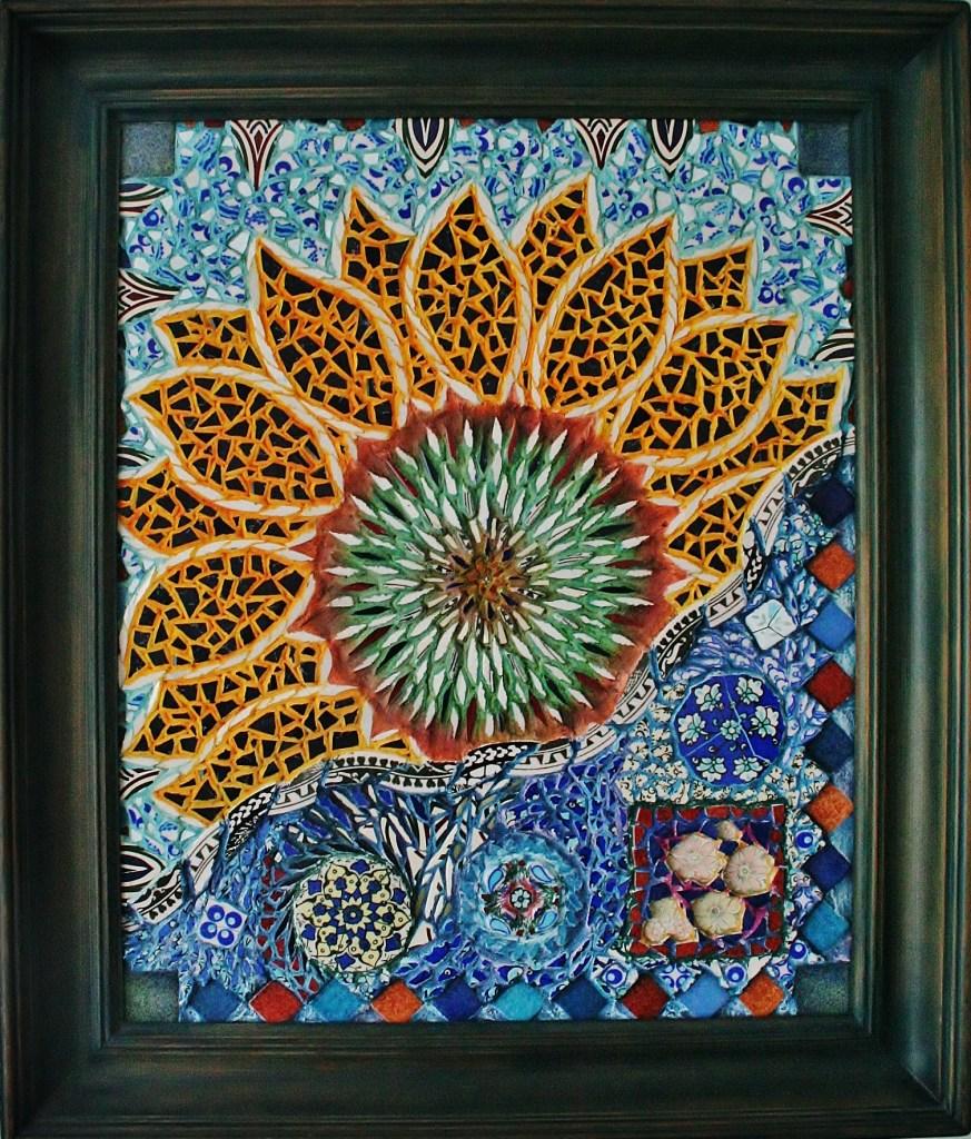 Handmade framed mosaic