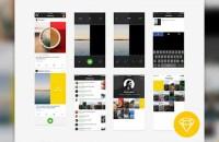 Everyday iOS Journal App - UI Kit | DesignerMill