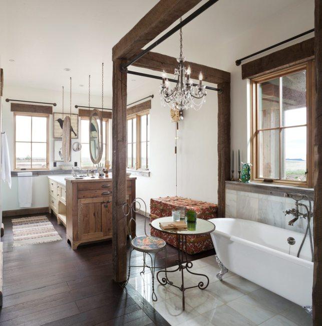 new home construction master bathroom