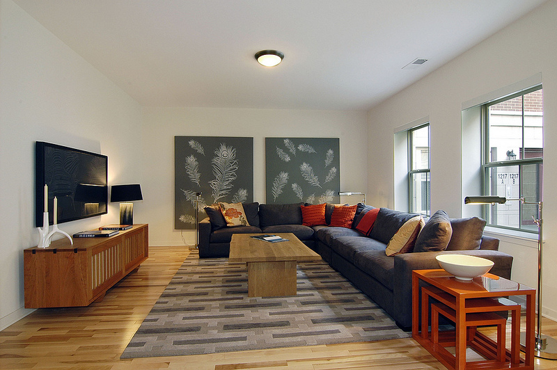 lenore callahan interior design, Roosevelt Square, CHICAGO: TOWNHOME MODEL, family