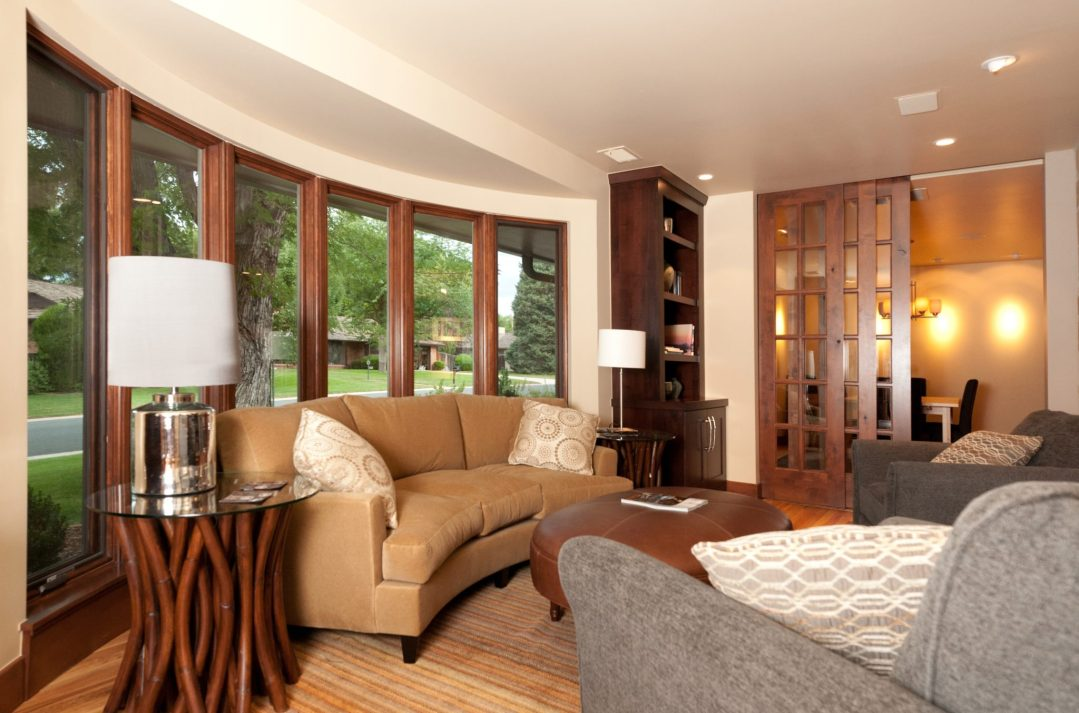 Family Room with natural elements by jenn