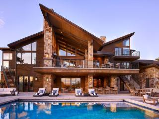 Custom Home in Colorado Golf Club with a dynamic view straight down to Pike's Peak, greg, exterior