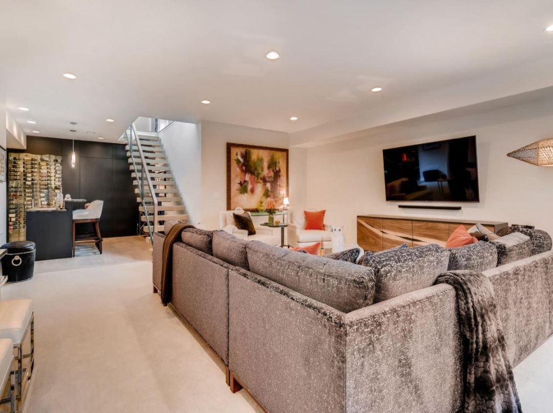 Mid-century modern, pam, basement