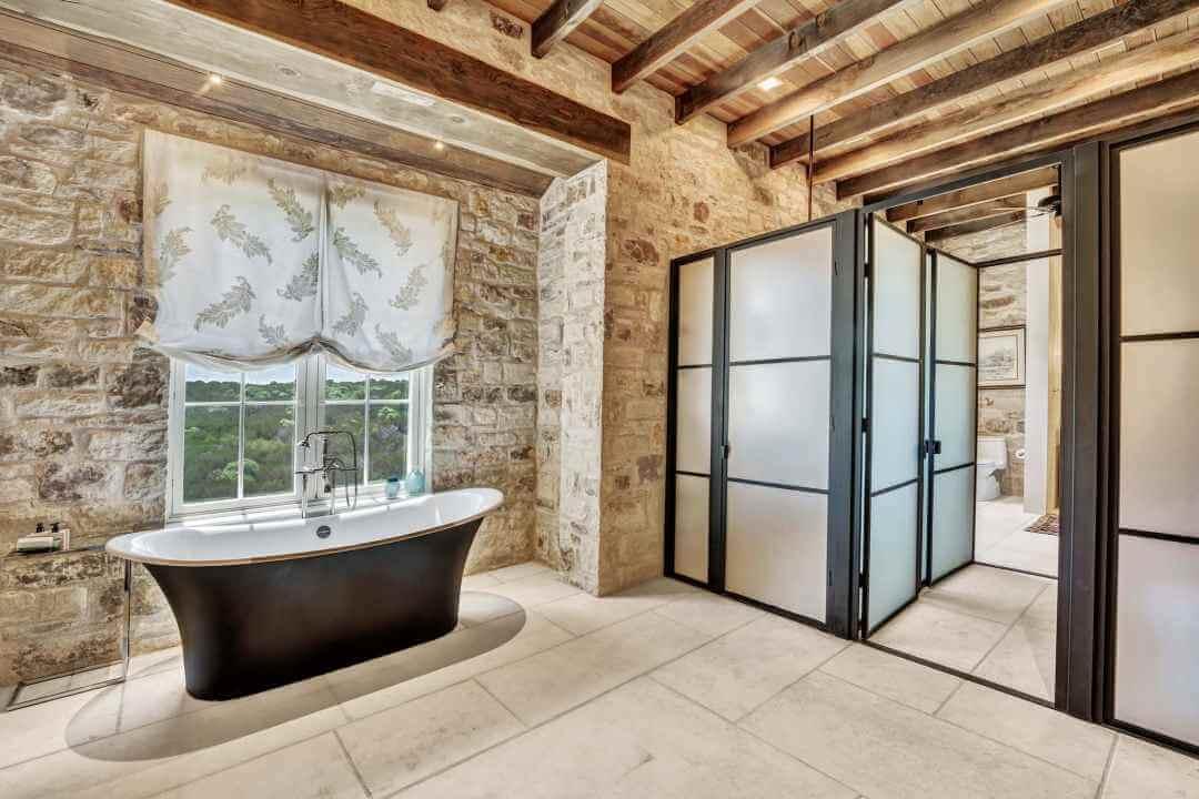 Doss Texas Custom Home master bath lenore 2