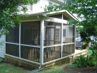 screened porch with translucent Polygal (polycarbonate ...