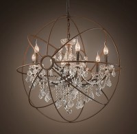 Rustic Iron Orb Crystal Chandelier Archives